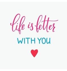 Romantic love lettering typography vector