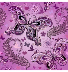 Seamless pastel pink vintage pattern vector image