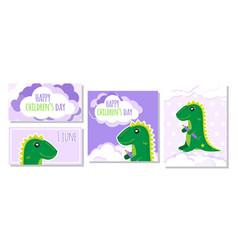 set four images for international children s vector image