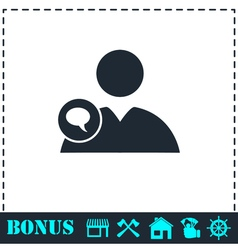 Speaking people icon flat vector image