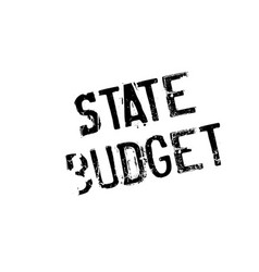 State budget rubber stamp vector
