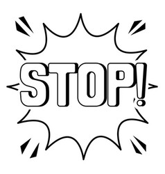 Stop word comic book coloring vector