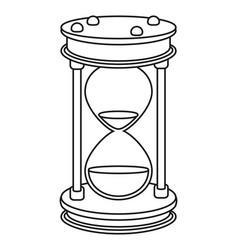 time sand glass cartoon vector image