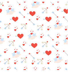 Valentines day pattern with birds vector