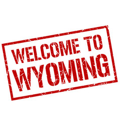 Welcome to wyoming stamp vector