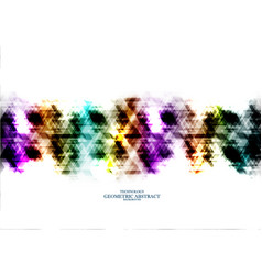 geometric technological rainbow digital triangle vector image vector image