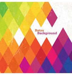 retro rhombus background vector image vector image