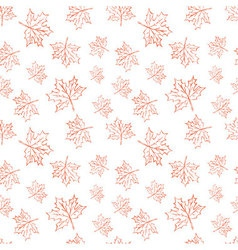 Seamless pattern with autumn leaves Halloween vector image vector image