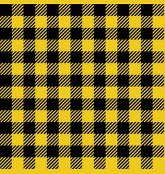 yellow lumberjack seamless pattern vector image vector image