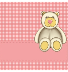 bear for baby girl vector image vector image
