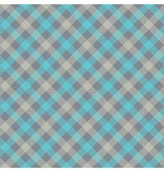 Blue gray check plaid fabric texture seamless vector