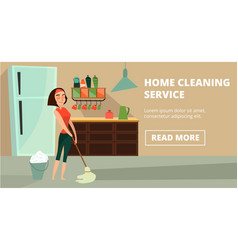 home cleaning service concept banner vector image