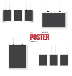 Isolated Poster Mockup Set Realistic EPS10 vector image vector image