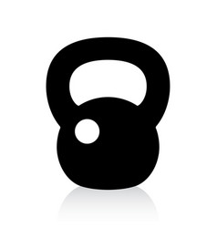 kettlebell icon vector image vector image