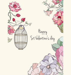 st valentine s day card vector image vector image