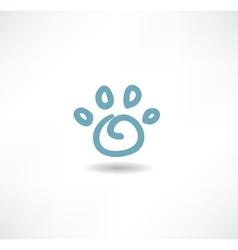 The print icon dog leg vector image