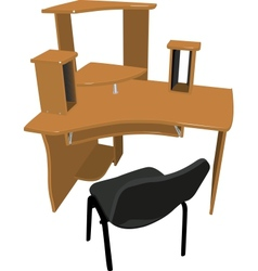 Chair and table for your computer vector image vector image
