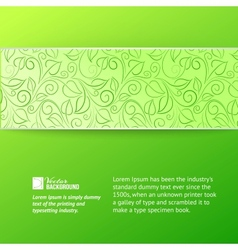 Green leaves cover vector image vector image