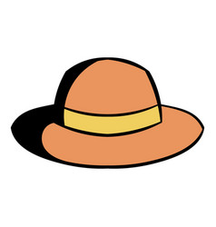 hipster hat icon cartoon vector image vector image