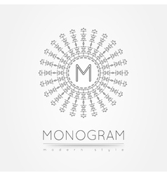 MONOGRAM icon vector image vector image