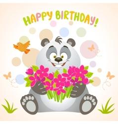 panda happy birthday vector image