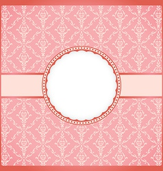 Pink round vintage frame vector image vector image