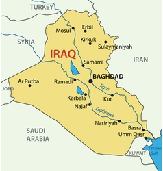 Republic of iraq - map vector