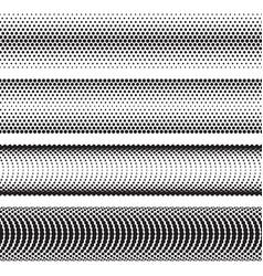 seamless halftone dots effect borders vector image vector image