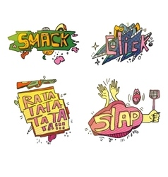 Set of comic cartoox exclamations vector image vector image