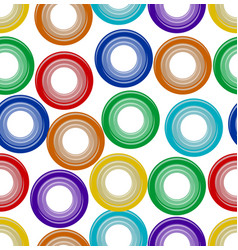 background seamless with rainbow plastic embossed vector image vector image