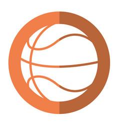 basketball ball play shadow vector image