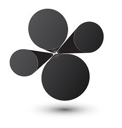 Bubble black infographics design vector image vector image
