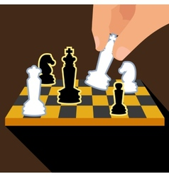 Business strategy with chess figures of chess vector image