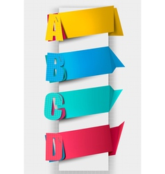 Colorful tags with letters vector image