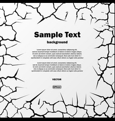 cracks square with text vector image vector image