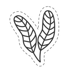 Feathers ornament decoration thin line vector