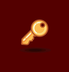 icon key isolated flat key vector image