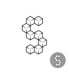 letter s logo consists of 3d sugar cubes vector image vector image