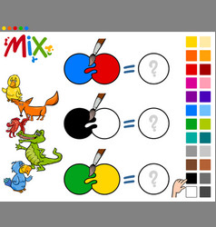 mix colors educational activity vector image