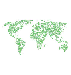 world map pattern of yes icons vector image