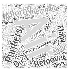 Allergy Air Purifiers Do They Really Work Word vector image