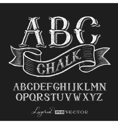 Alphabet hand drawn on chalkboard vector