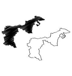 Appenzell ausserrhoden map vector