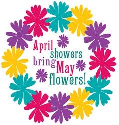 April Showers vector