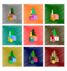 Assembly flat shading style christmas vector