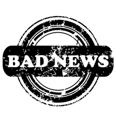 Bad news stamp vector