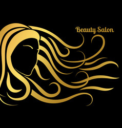 beauty salon poster vector image