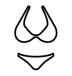 Bikini icon vector