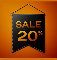 black pennant with inscription sale twenty vector image