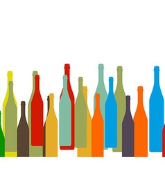 bottle on background vector image
